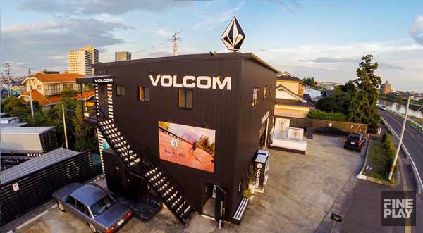VOLCOM STORE SENDAIのコンクリートボウル