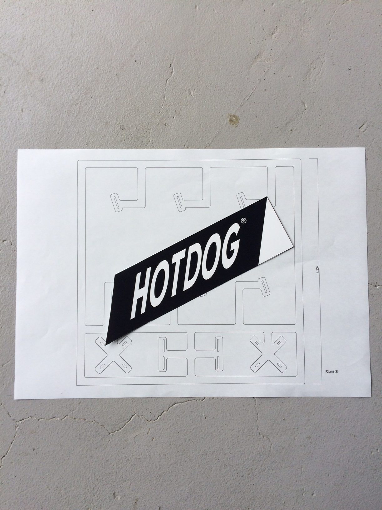 """HOTDOG""×ORGANIC TABLE BY LAPAZ"