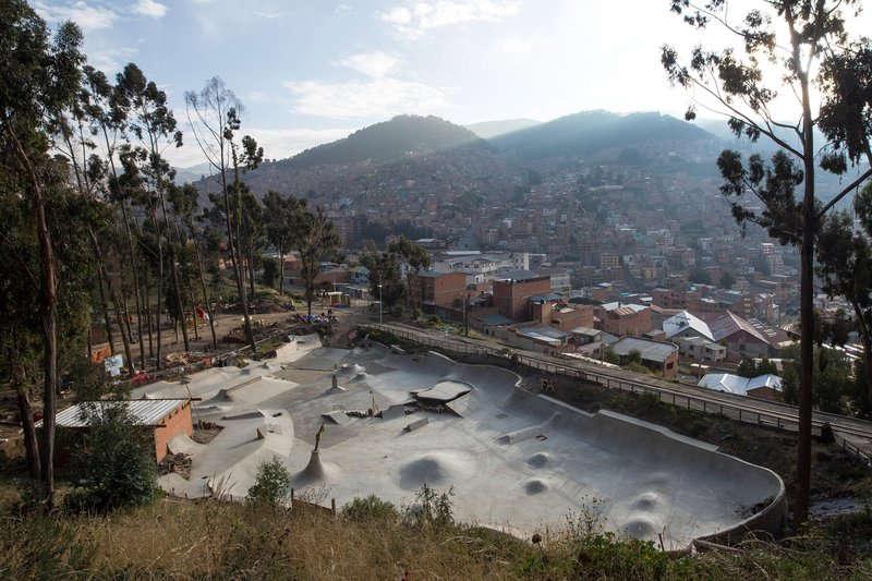 高地のスケートパーク(ボリビア)