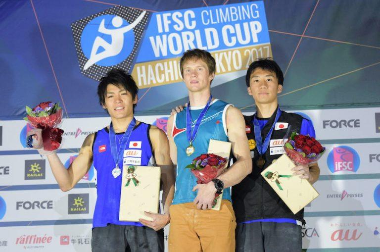 日本勢男女4人が表彰台!「クライミングW杯・ボルダリング八王子」
