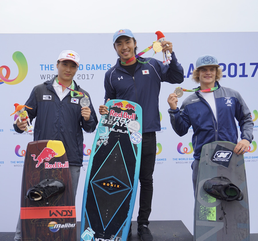 手塚翔太がウェイクボードフリースタイル優勝!「ワールドゲームズ」