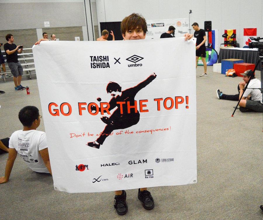 プロフットバッグプレイヤー石田太志が世界3位に輝く!