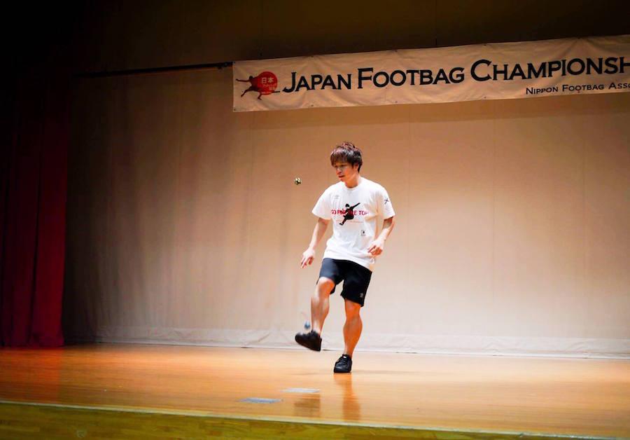 石田太志が全4種目制覇!「Japan Footbag Championships 2017」