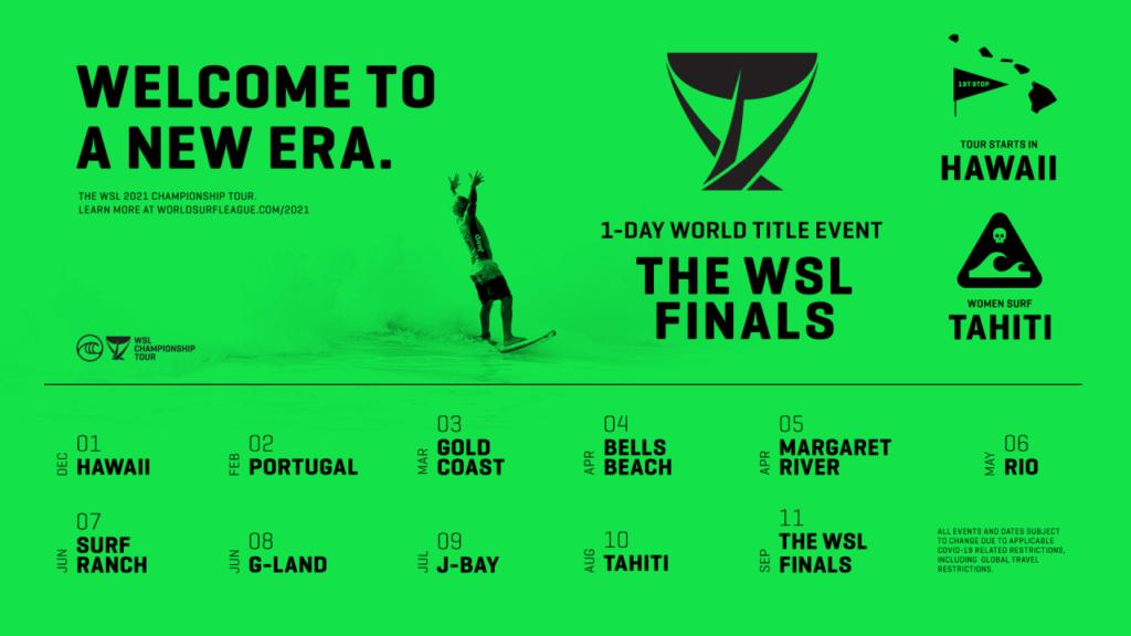 2021シーズンCTスケジュール  / 写真:World Surf League