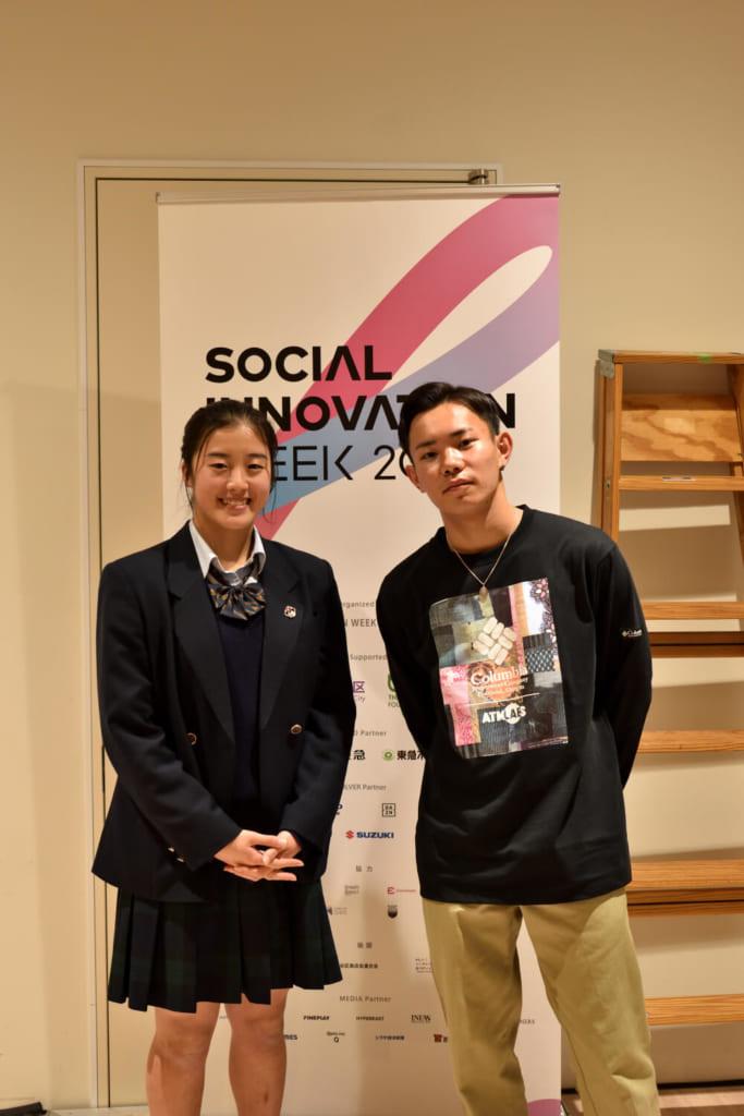 写真左からBGIRL HONOKAA、BBOY SHOSEI photo by 金子修平