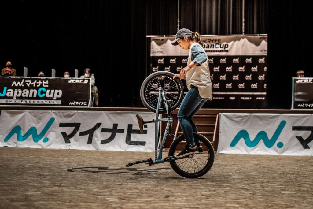 女子エリート優勝:石﨑光紗季©️Naoki Gaman / Japan Freestyle BMX Federation