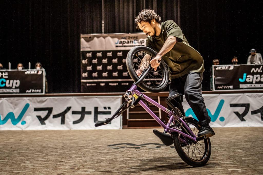男子エリート優勝:伊藤真人©️Naoki Gaman / Japan Freestyle BMX Federation