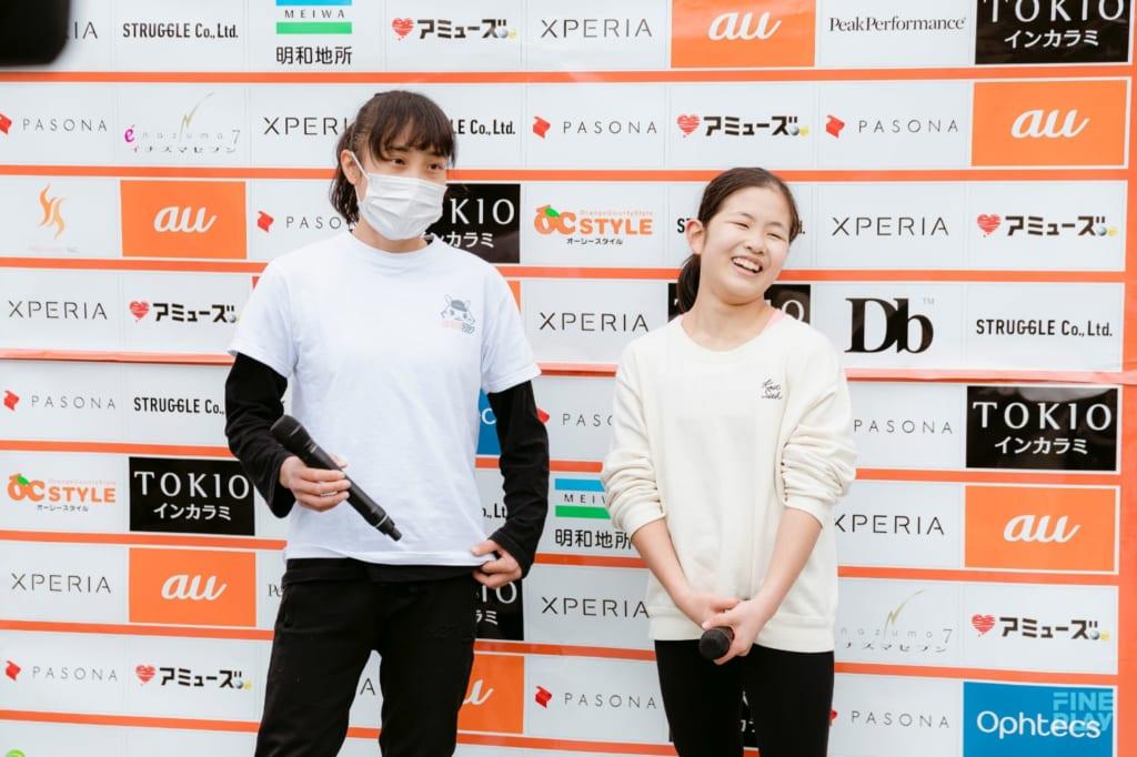 写真左から2位山本華歩、優勝永井音寧 / photo by Kazuki Murata